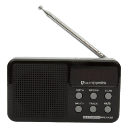 UltraPoint Retro Vintage Micro SD Card MP3 Playable 3 Watts Classic Portable FM Radio Player (UM0017, Black)_1