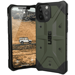 UAG Pathfinder TPU Back Case For iPhone 12 Pro Max (Chiseled Designed Corners, X0018RJ1GB, Olive)_1