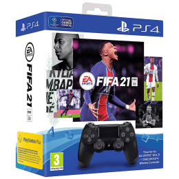 Sony FIFA 21 Dualshock 4 Wireless Controller Bundle For PS4 (Precision Control, Jet Black)_1