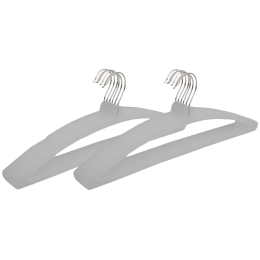 Kuber Industries Plastic 12 Pieces Hangers (Ultra-slim Profile, CTHANG010, Grey)_1