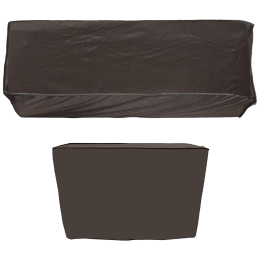 Kuber Industries Cover For Air Conditioner (For Indoor and Outdoor Unit, CTKTC034047, Brown)_1