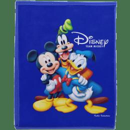 Kuber Industries Disney Team Mickey Non Woven Fabric Laundry Basket (Foldable Hamper, KUBMART1194, Blue)_1