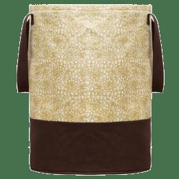 Kuber Industries Metalic Canvas Laundry Bag (100 Percent Waterproof, CTKTC134616, Brown)_1
