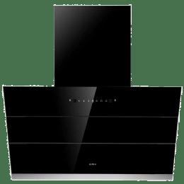 Elica HAC VMS PLUS 1100 m³/hr 90cm Filterless Chimney (Auto Clean, EFL-S901, Black)_1