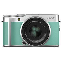 Fujifilm X-A7 24.2MP Mirrorless Camera (Built-in Lens, Simple Tap-and-Swipe Operation, 16638407, Mint Green)_1