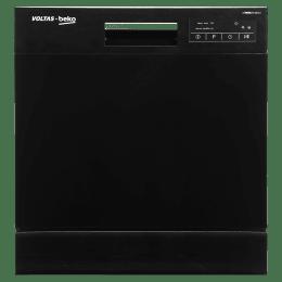 Voltas Beko 8 Place Setting Freestanding Dishwasher (6 Wash Programs, DT8B, Black)_1