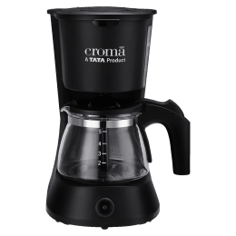 Croma 5 Cups Manual Coffee Maker (CRAK0029, Black)_1