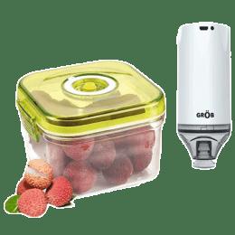 Grob Airtight Vacuum Storage Container (Nutrifresh Pro, Transparent)_1