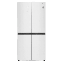 LG 594 Litres Frost Free Inverter French Door Refrigerator (LG ThinQ, GC-M22FAGPL.ALWQEBN, Linen White)_1