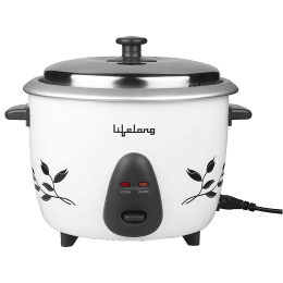 Lifelong 1 Litre Electric Rice Cooker (Auto Cut-Off, LLRC01, White)_1