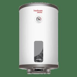 Hindware Atlantic Cristallo 25 Litres 5 Star Rating Storage Water Heater (2000 Watts, HSWHCR25WM2VGL, White)_1