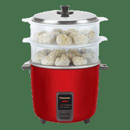 Panasonic Warmer 1.8 Litres Electric Rice Cooker (Automatic Cooking, SR-WA18H (SS), Metallic Burgundy)_1