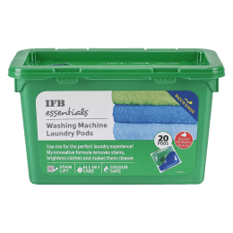 IFB Essentials Liquid Detergent For Top Load/Front Load Washing Machines (20 pods (490ml), Washing Machine La, Green)_1