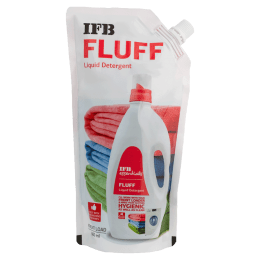 IFB Essentials Fluff Liquid Detergent Refill Pack for Front Load Washing Machines (500ml, Fluff Refill pack, White)_1