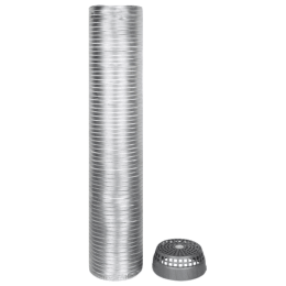 Faber Installation Kit For Electric Chimney (Aluminum Pipe, 112.0630.490, Silver)_1