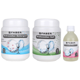 Faber Detergent Kit For Dishwasher (Shining Clean Utensils, 112.0630.660, White)_1