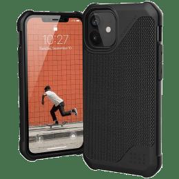 UAG Metropolis Lite Leather Back Case For iPhone 12 Mini (Compact and Flexible, X0018RE6FH, Fibre Armour Black)_1
