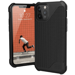 UAG Metropolis Lite Leather Back Case For iPhone 12 Pro Max (Compact and Flexible, X0018RE6JD, Fibre Armour Black)_1