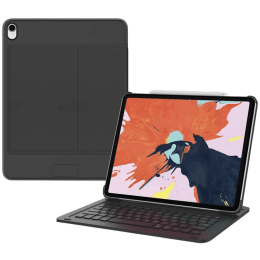 Cygnett TypePro Micro-Fibre Smart Keyboard Case For iPad Pro 12.9 Inch (Adjustable Viewing Angles, CY2789TPIKB, Black)_1