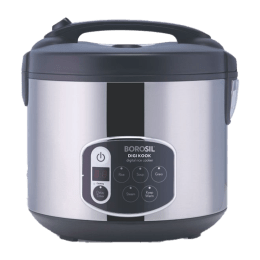 Borosil Digikook 1.8 Litres 650 Watts Rice Cooker and Steamer (BRC18LDSS11, Silver)_1