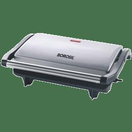 Borosil Prime 700 Watts 2 Slice Automatic Grill Sandwich Maker (Automatic Temperature Control, BGRILLPS11, Silver)_1