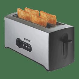 Borosil Krispy 1500 Watts 4 Slice Automatic Pop-Up Toaster (Dual Bread Guide, BTO1500SS22, Silver)_1