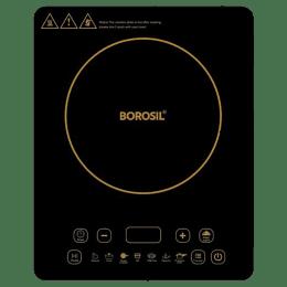 Borosil Smart Kook Glass Crystallite Plate 2000 Watts Induction Cooktop (8 Power Levels, BIC20TC25, Black)_1