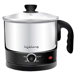 Lifelong 1.5 Litres 360 Watts Electric Kettle and Cooker (Multifunctional, LLMC01, Silver)_1