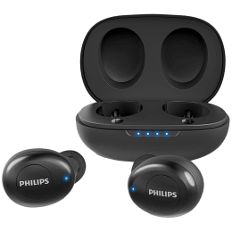 Philips Upbeat In-Ear Truly Wireless Earbuds with Mic (Bluetooth 5.0, TAUT102, Black)_1