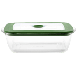 Borosil Square Dish with Lid for Microwave Oven and Refrigerator (Extreme Temperature Resistance, IYSQGRL2200, Transparent)_1