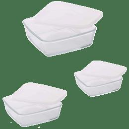 Borosil Square Dish with Lid for Microwave, Fridge, Dishwasher (Borosilicate Glass, IH22DH15626, Transparent)_1