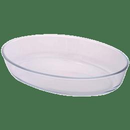 Borosil Oval Baking Dish for Microwave, Fridge, Dishwasher (Borosilicate Glass, ICY22OD0107, Transparent)_1
