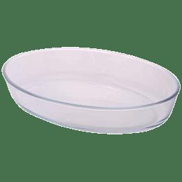 Borosil Oval Baking Dish for Microwave, Fridge, Dishwasher (Borosilicate Glass, ICY22OD0116, Transparent)_1