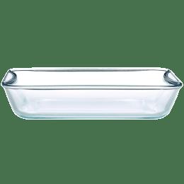 Borosil Rectangular Baking Dish for Microwave (Borosilicate Glass, IH22RCR7215, Transparent)_1