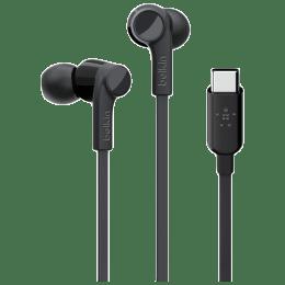 Belkin Rockstar In-Ear Wired Earphone with Mic (Sweat-Resistant, G3H0002BTBLK, Black)_1