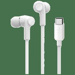 Belkin Rockstar In-Ear Wired Earphone with Mic (Sweat-Resistant, G3H0002BTWHT, White)_1