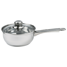 Sabichi Saucepan with Glass Lid (18cm, 93745 -I, Silver)_1