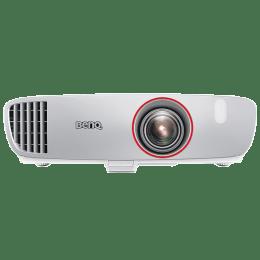 BenQ W Series Full HD DLP Projector (2200 ANSI Lumens, HDMI + USB (Type A) + VGA, CinemaMaster Audio Enhancer, W1210ST, White)_1