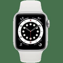 Apple Watch Series 6 Smartwatch (GPS, 40mm) (Blood Oxygen Sensor, MG283HN/A, Silver/White, Sport Band)_1