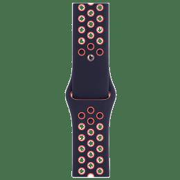 Apple Nike Sport Strap For Apple Watch 44 mm (MG3X3ZM/A, Blue Black/Bright Mango)_1