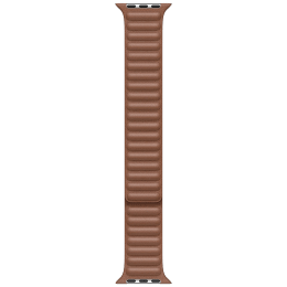 Apple Leather Link Strap For Apple Watch 44 mm (MY9J2ZM/A, Saddle Brown)_1