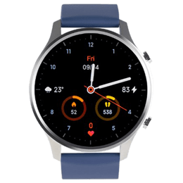 Xiaomi Revolve Smart Watch (GPS, 46mm) (Amoled Glass, BHR4263IN, Chrome Silver/Neptune Blue, Quick Release Strap)_1