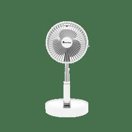 Sun King Foldable Silent and Portable 20.32cm Sweep 3 Blade Pedestal Fan (Brushless DC Motor, SK-723, White)_1