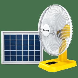 Sun King Solar Powered Portable 3 Blade Table Fan (Brushless DC Motor, SK-724, White/Yellow)_1