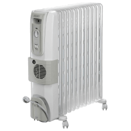 DeLonghi HOR 3000 Watts Fan Oil Filled Heater (Thermostat Control, KH771230V, White)_1