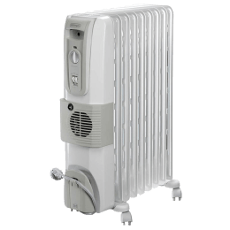DeLonghi HOR 2500 Watts Fan Oil Filled Heater (Thermostat Control, KH770925V, White)_1