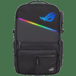 Asus ROG Ranger BP3703G 20 Litres Polyester, TPU Laptop Backpack for 17 Inch Laptop (Aura RGB Dynamic Illumination, 90XB05X0-BBP010, Black)_1