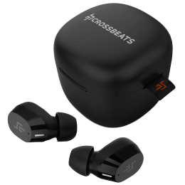 Crossbeats Edge In-Ear Wireless Earbuds with Dual Microphone (Bluetooth, CB-EDGE-BLK, Black)_1