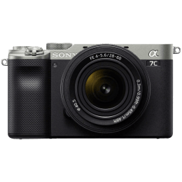 Sony Alpha 7C 24.2MP Mirrorless Camera (28-60mm Lens, Full-Frame Sensor, ILCE-7CL, Silver)_1