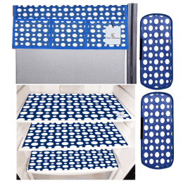Kuber Industries Mat and Cover For Refrigerator (Easily Hand Washable, CTKTC033656, Blue)_1